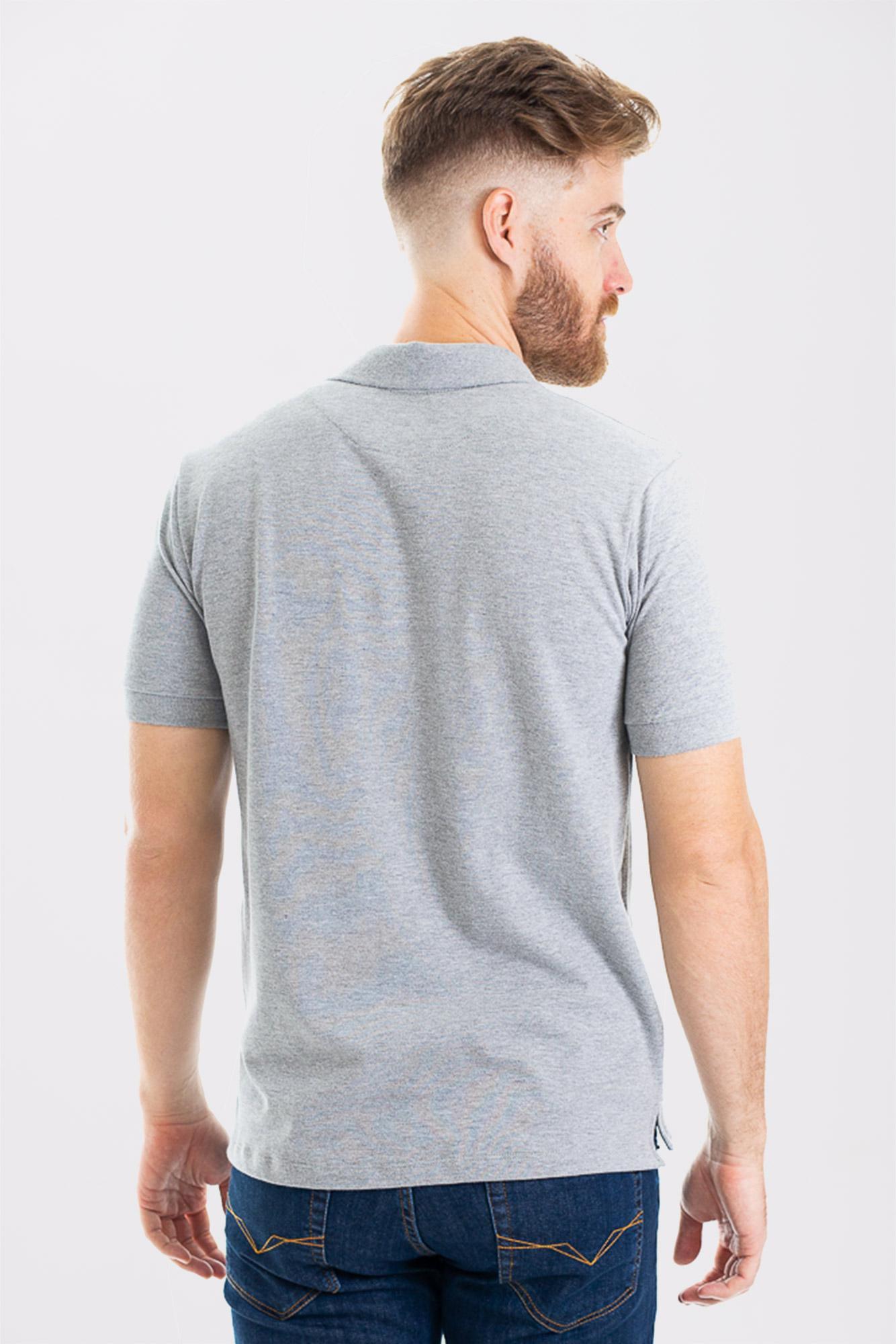 Camisa Polo Cotton Light Gray