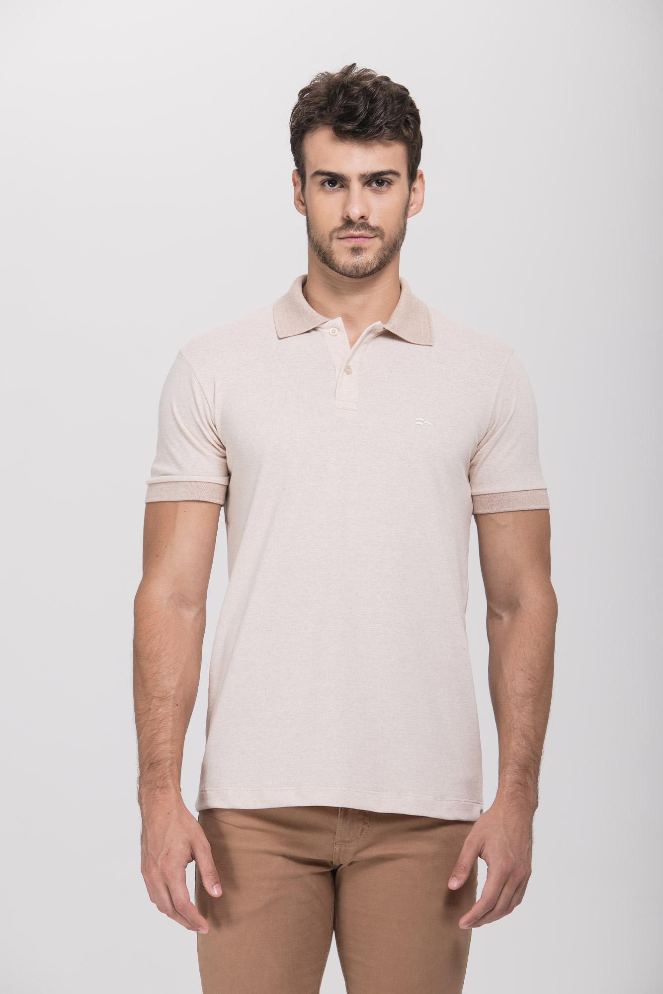 Camisa Polo Piquet Natural