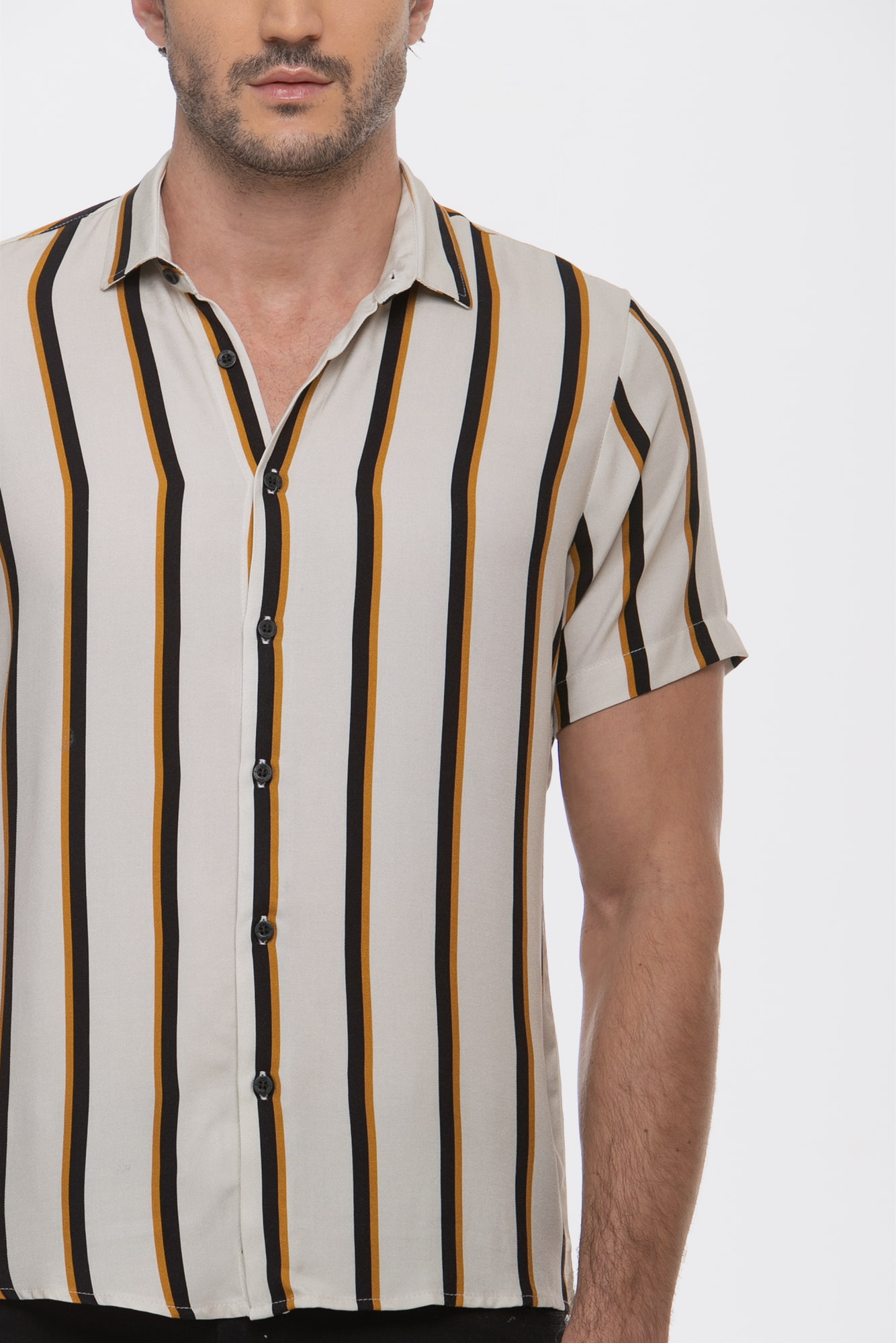 Camisa Social Manga Curta Summer Lines