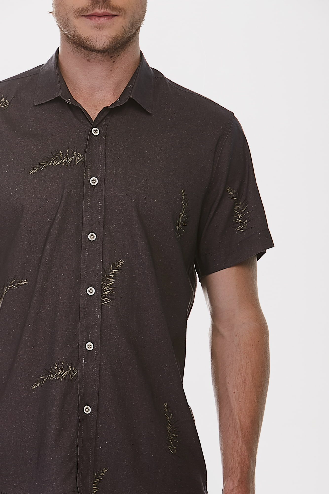 Camisa Social Mc Black And Gold