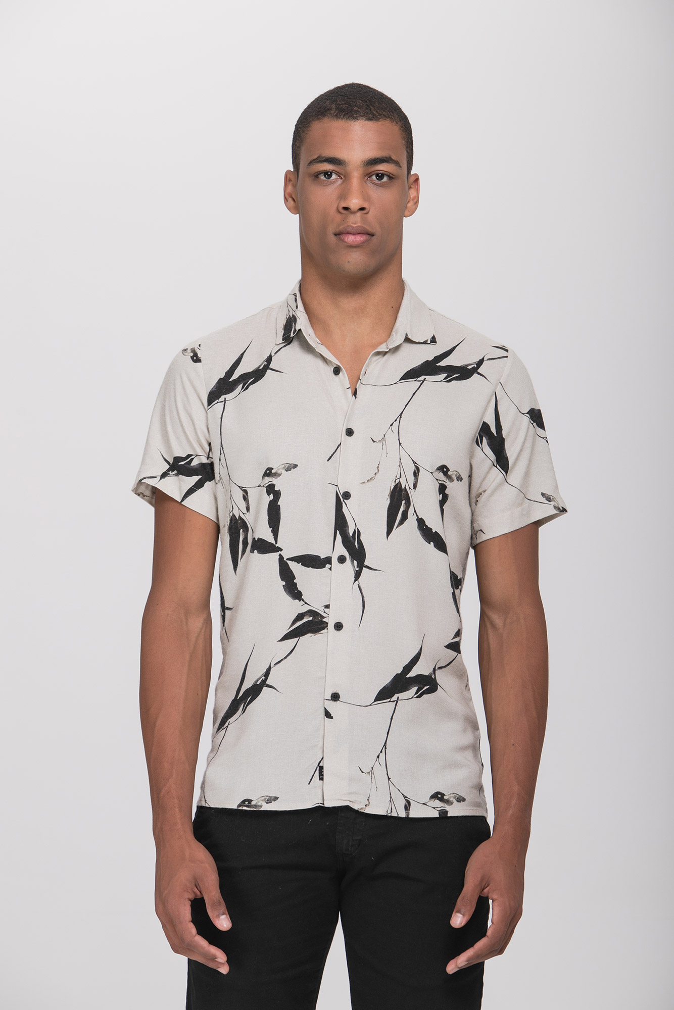 Camisa Social MC Dry Leaves