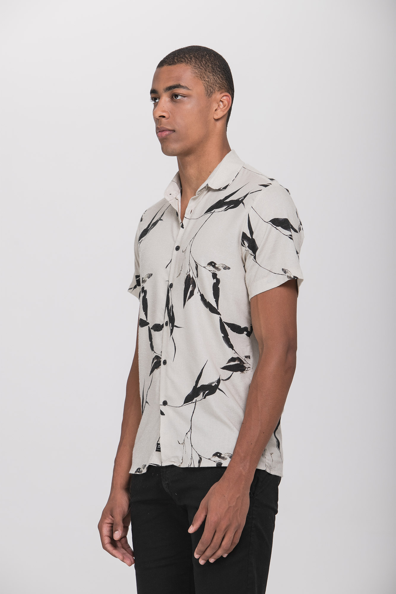 Camisa Social Mc Dry Leaves