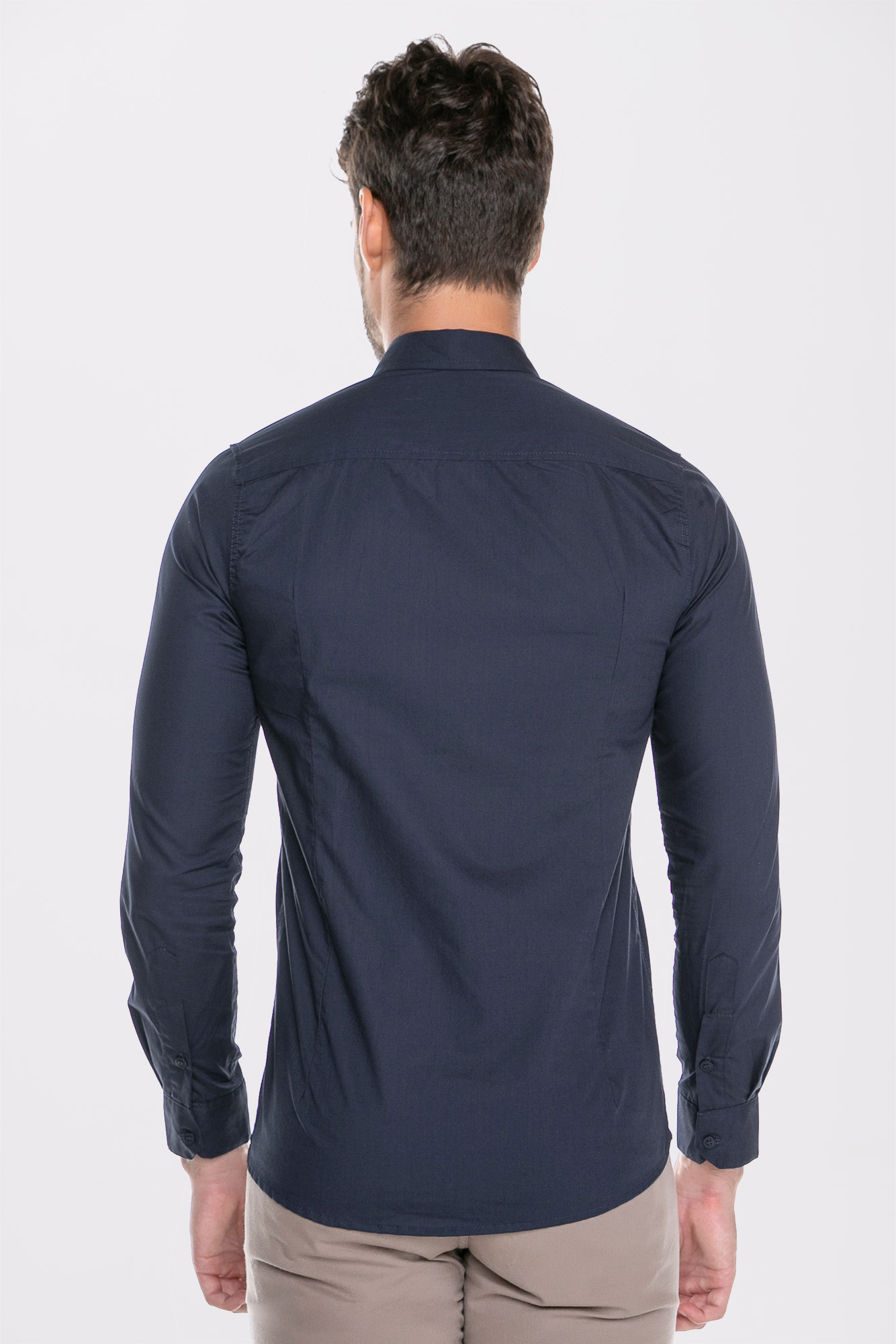 Camisa Social Ml Confort Marinho