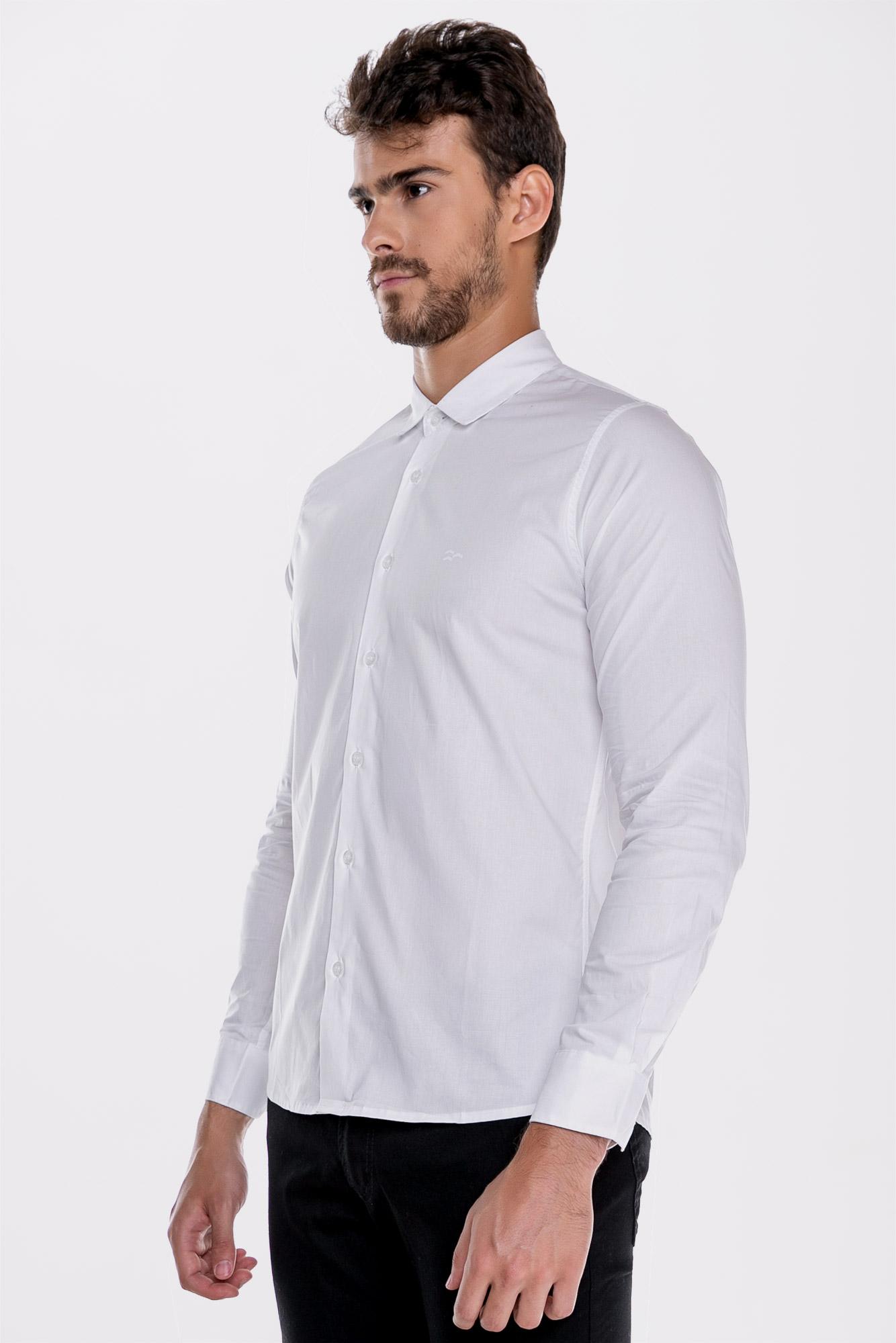 Camisa Social Ml Confort White