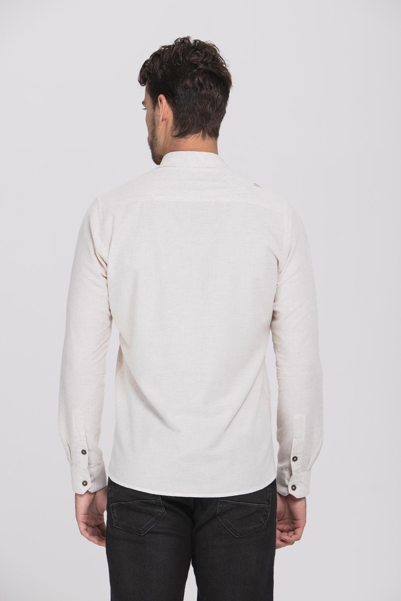 Camisa Social Ml Lino Plus