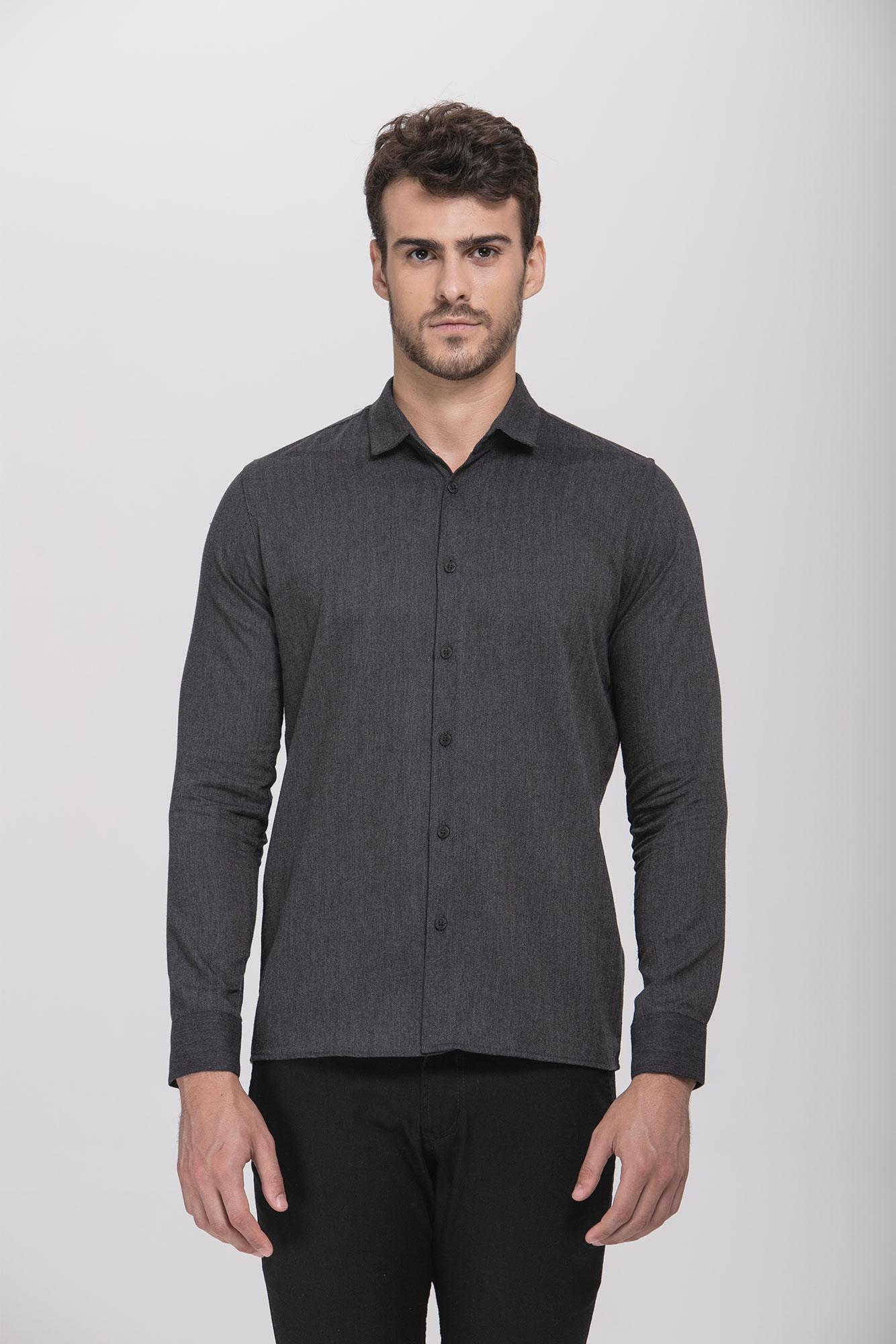 Camisa Social ML Maquinet Black
