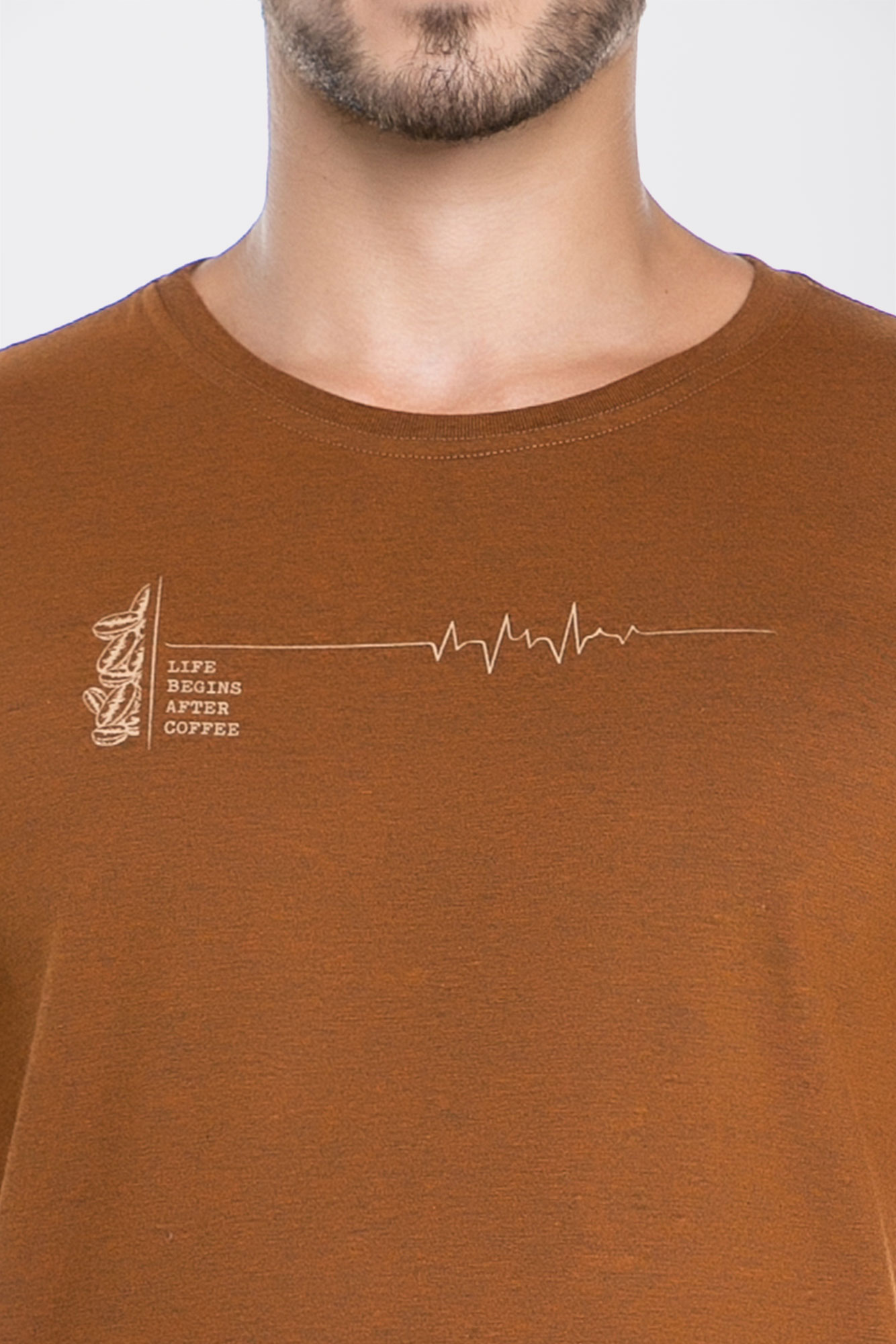 Camiseta After Coffee Caramelo