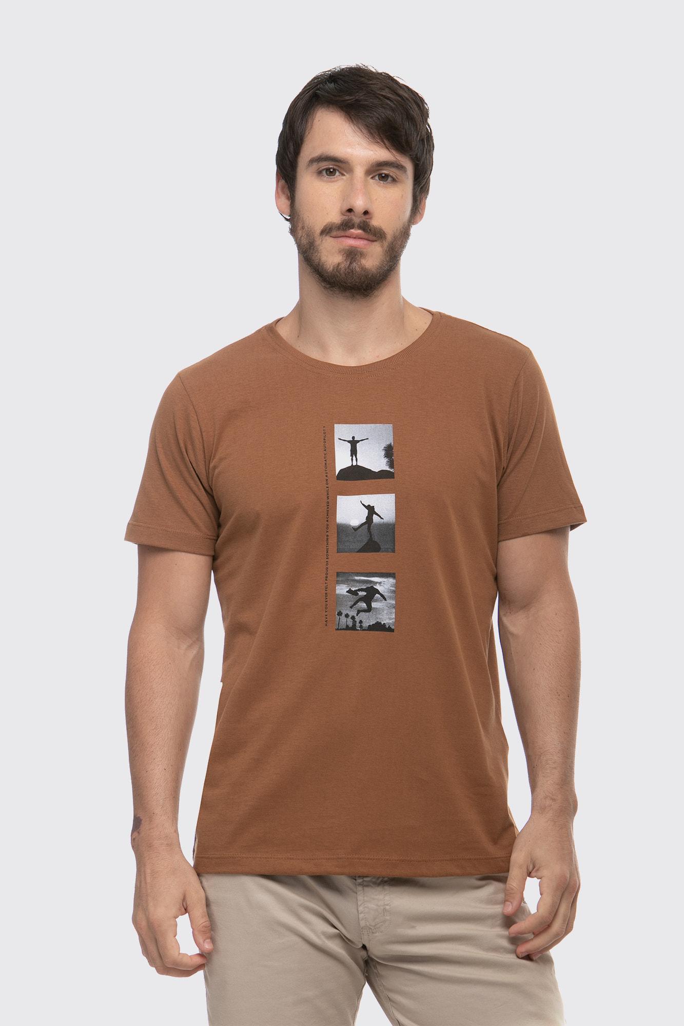 Camiseta Autopilot Marrom