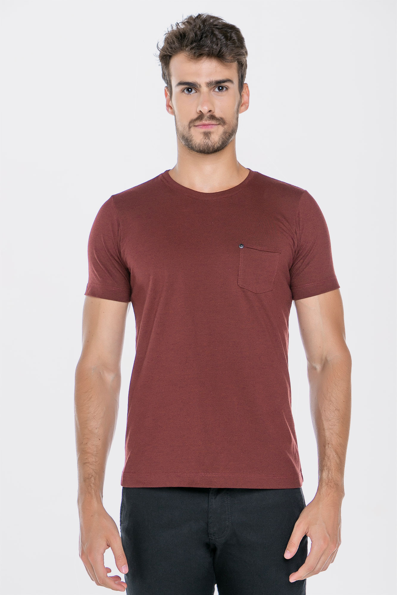 Camiseta Basic Coffee Vino