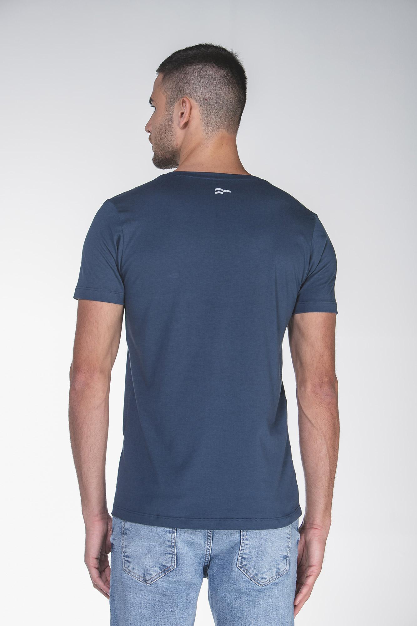 Camiseta Basic Egypt Azul/Branco