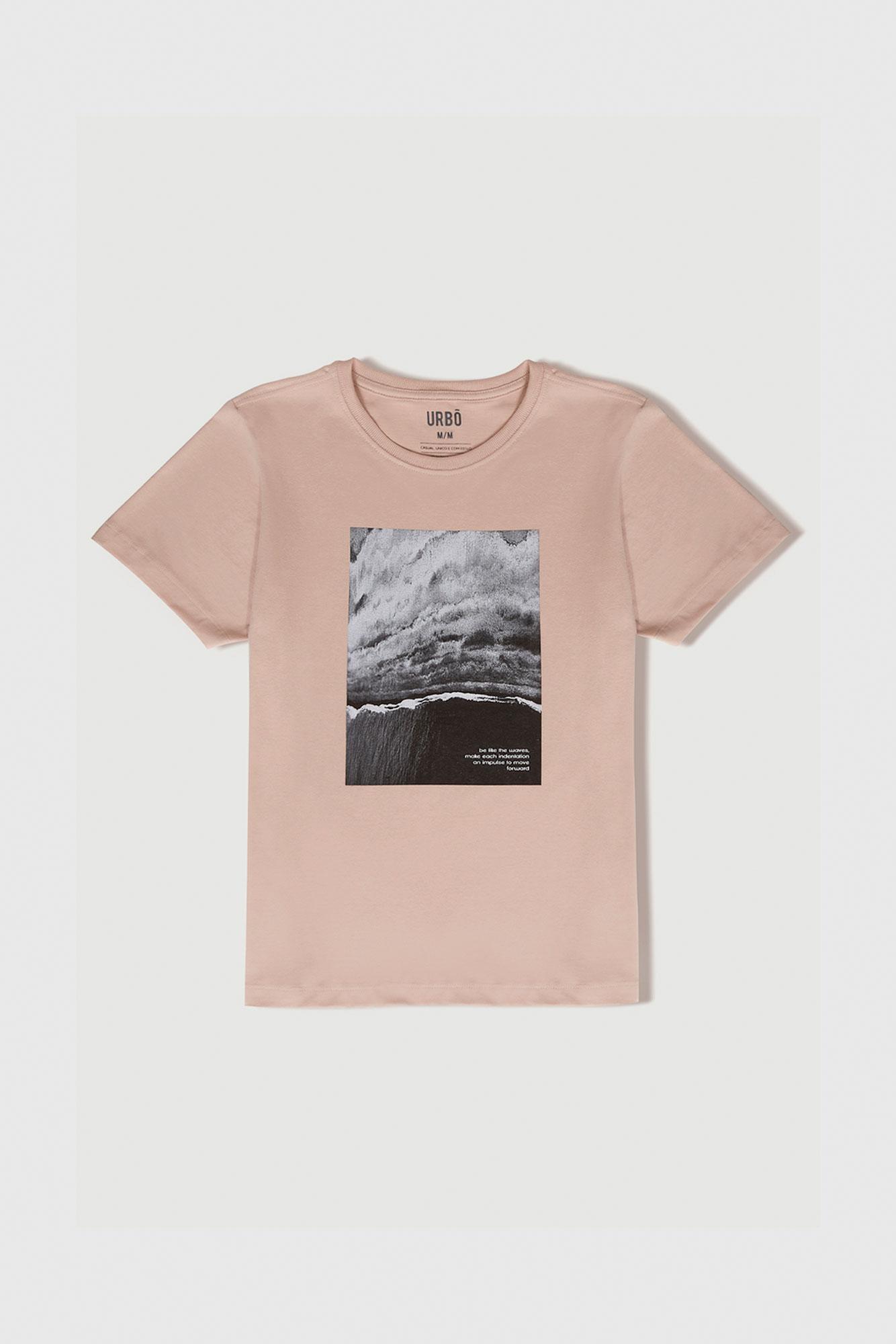 Camiseta Be Like The Waves Bege