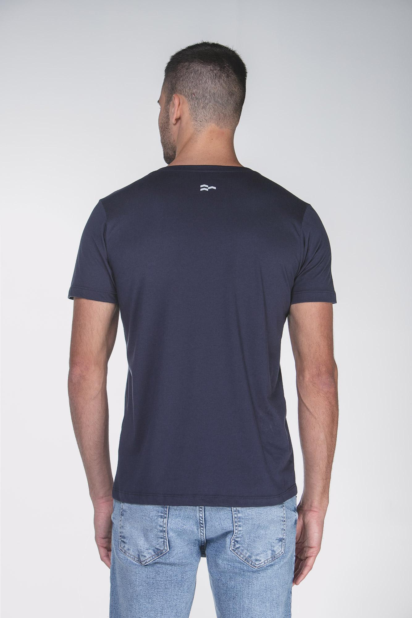 Camiseta Cotton Egypt Azul/Preto