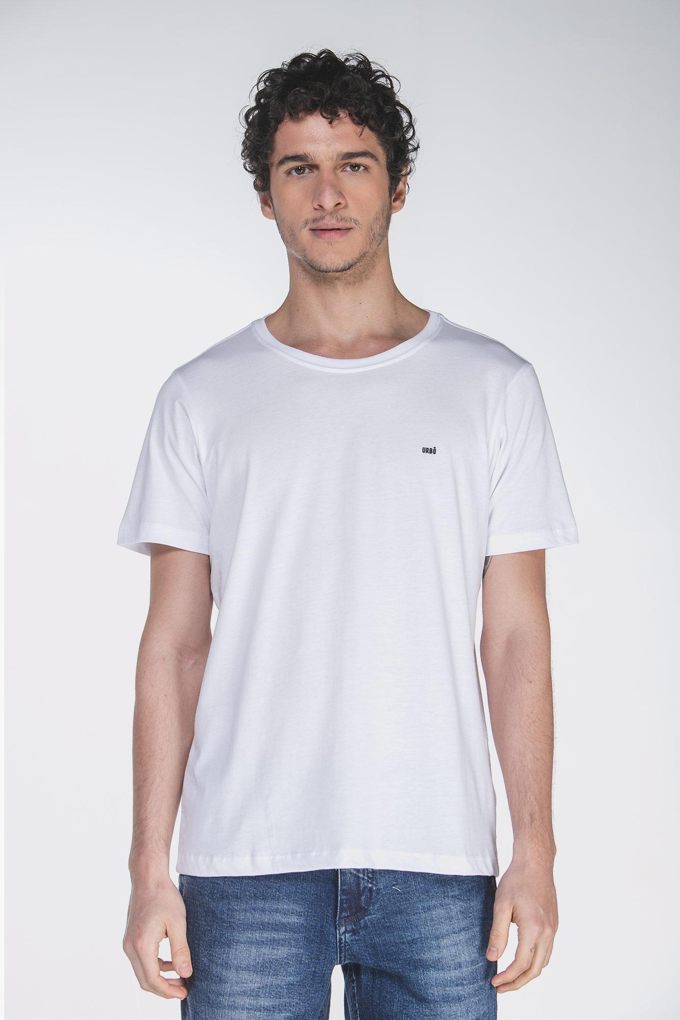Camiseta Cotton Egypt Branco/Preto