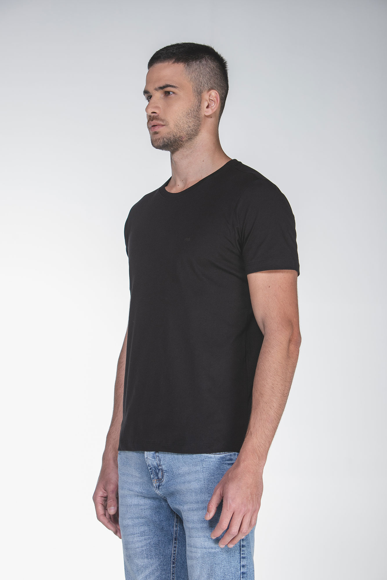 Camiseta Cotton Egypt Preto/Preto