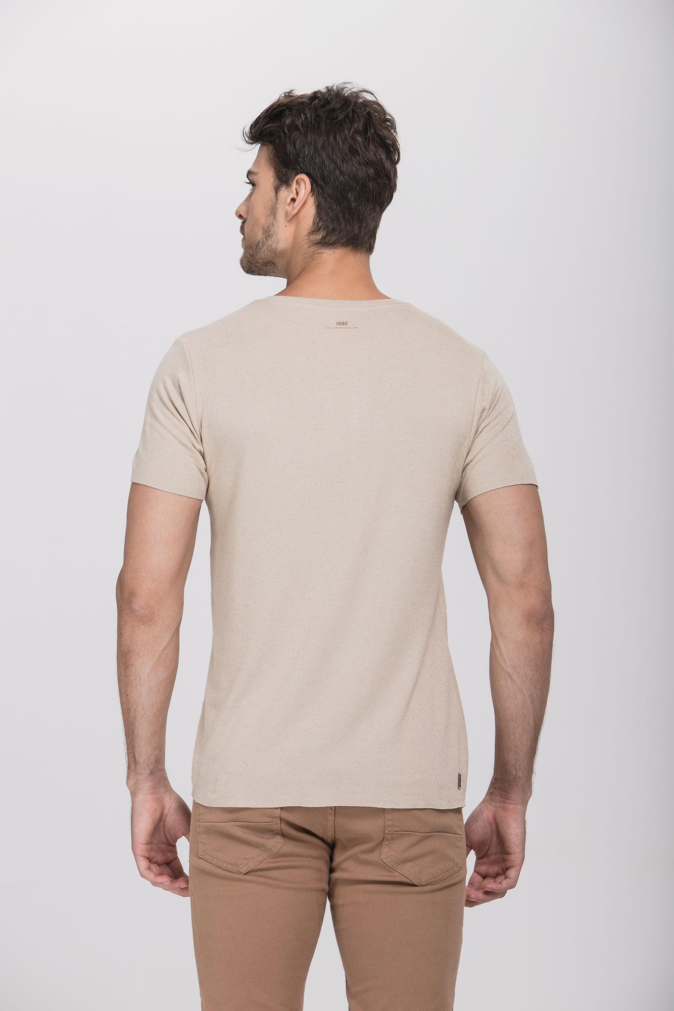 Camiseta Lino Natural Bege