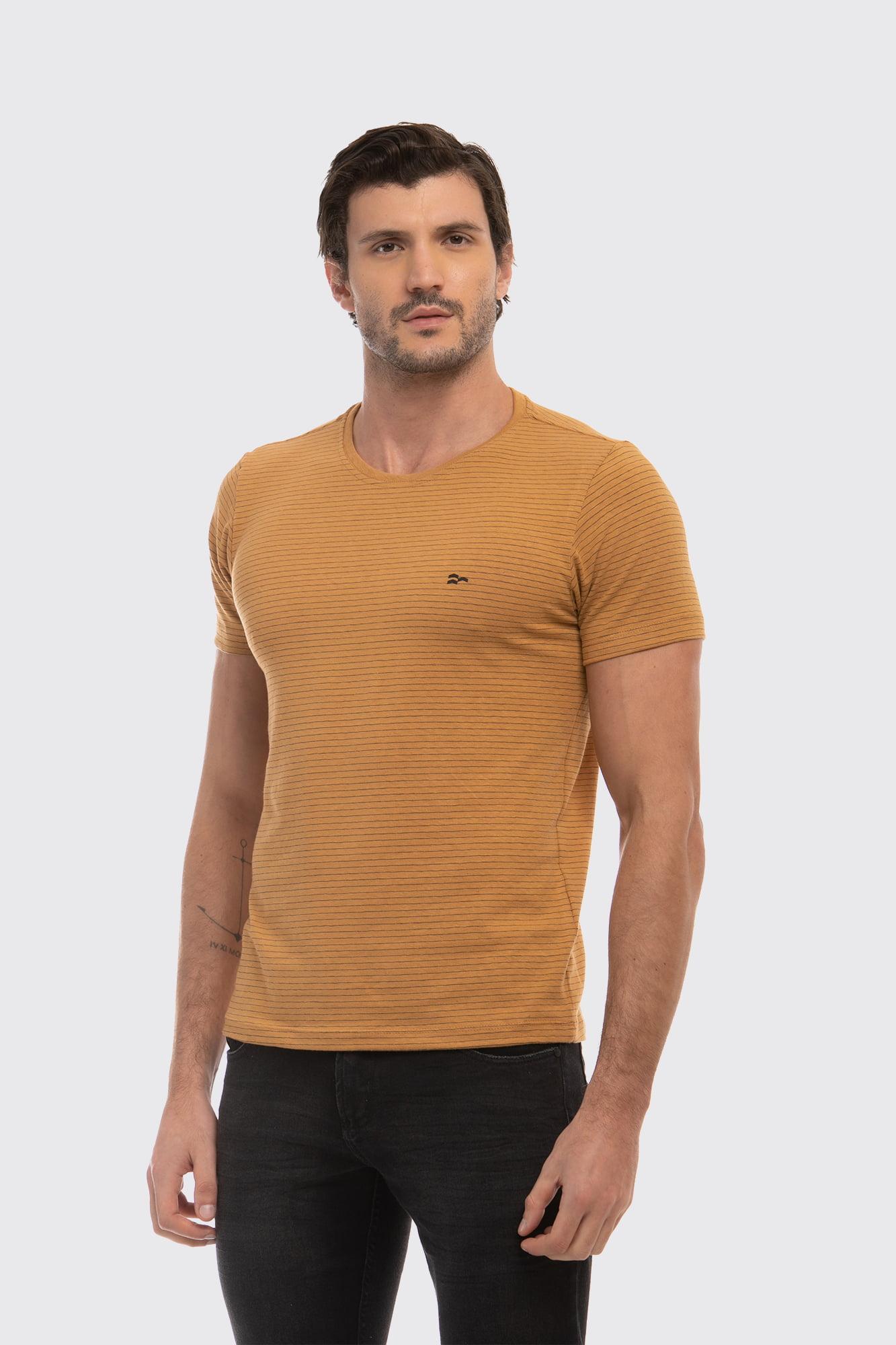 Camiseta Listrada Craft Amarela