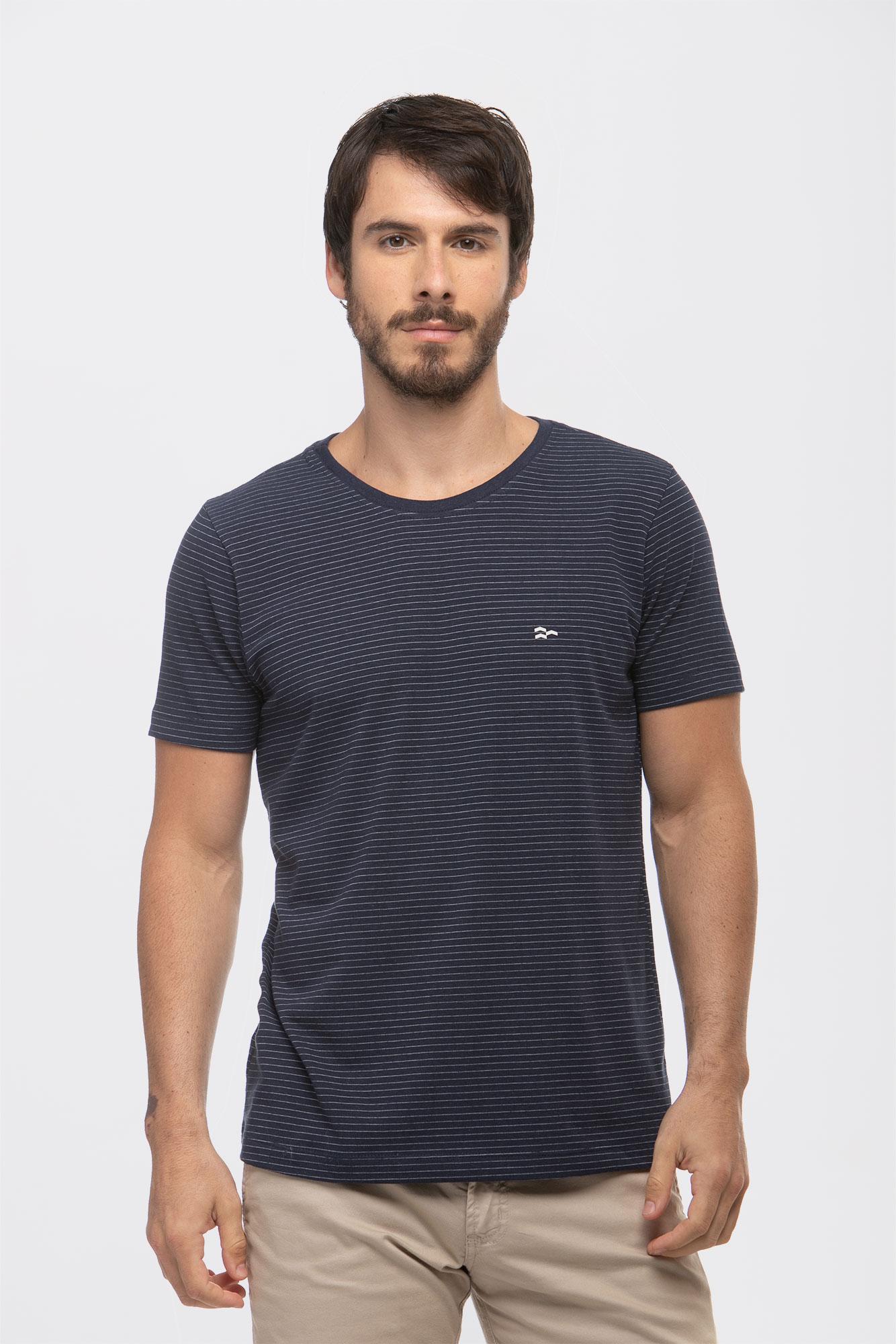 Camiseta Listrada Craft Azul