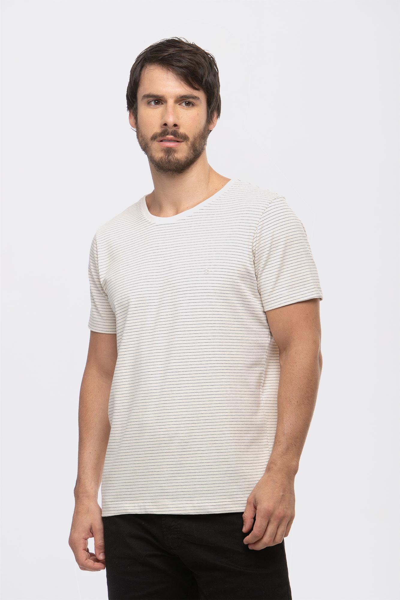 Camiseta Listrada Craft Natural