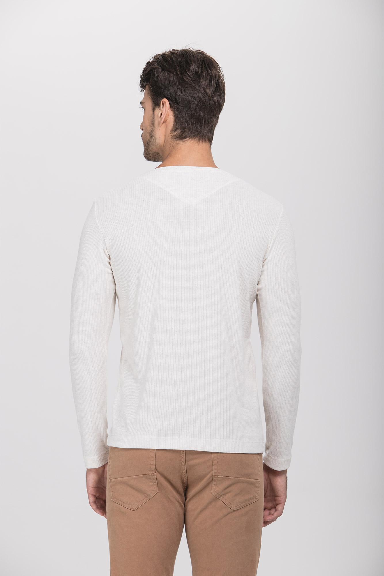 Camiseta ML Henley Areia