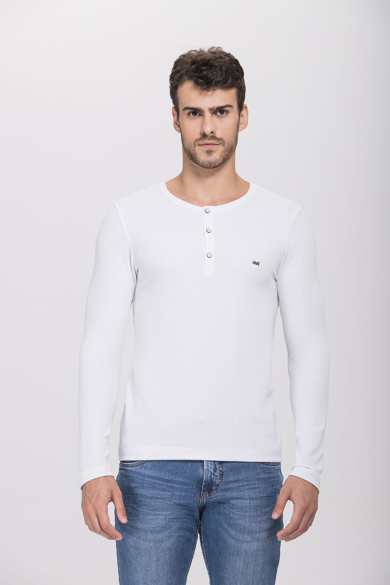 Camiseta ML Henley Branca