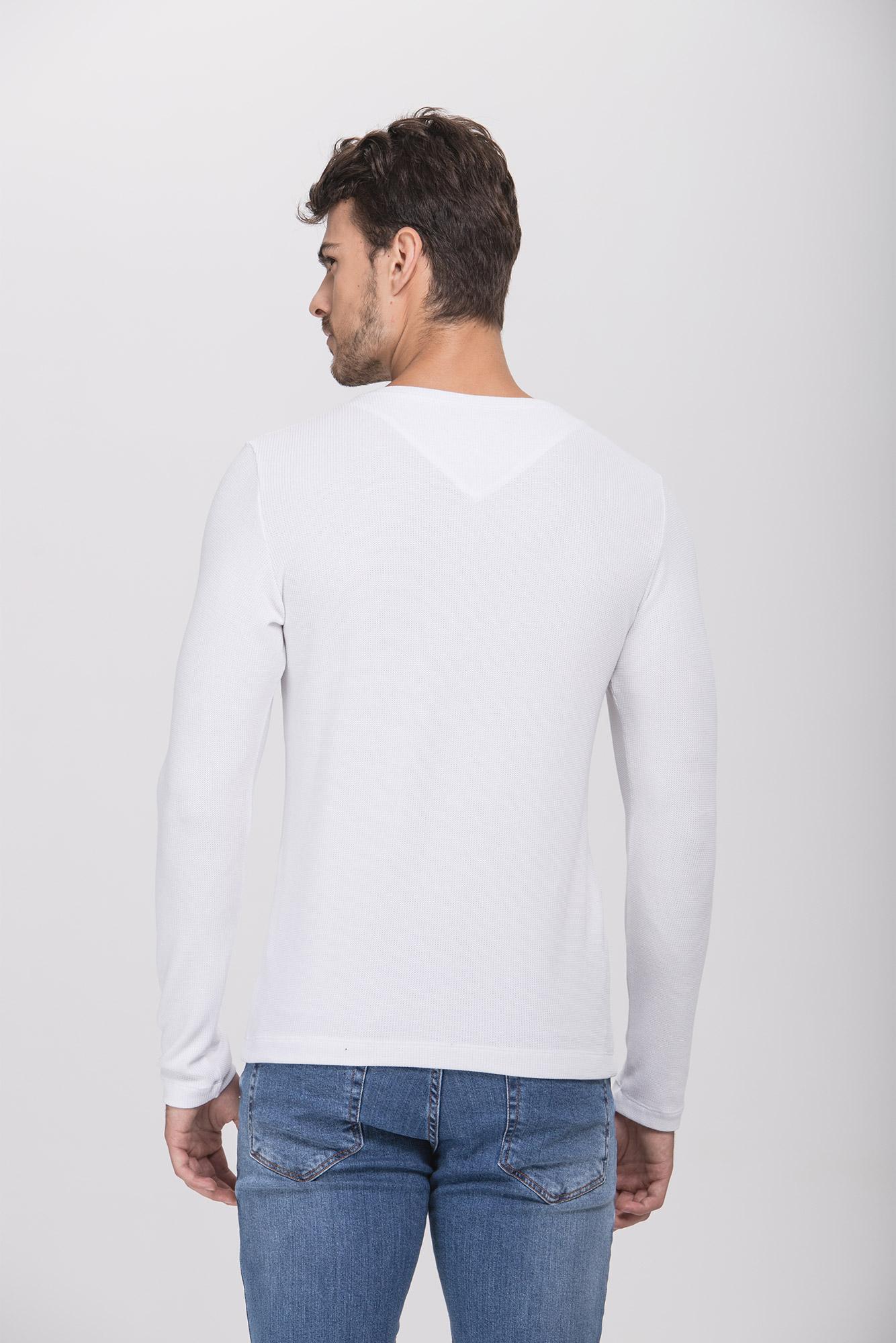 Camiseta ML Henley Branca