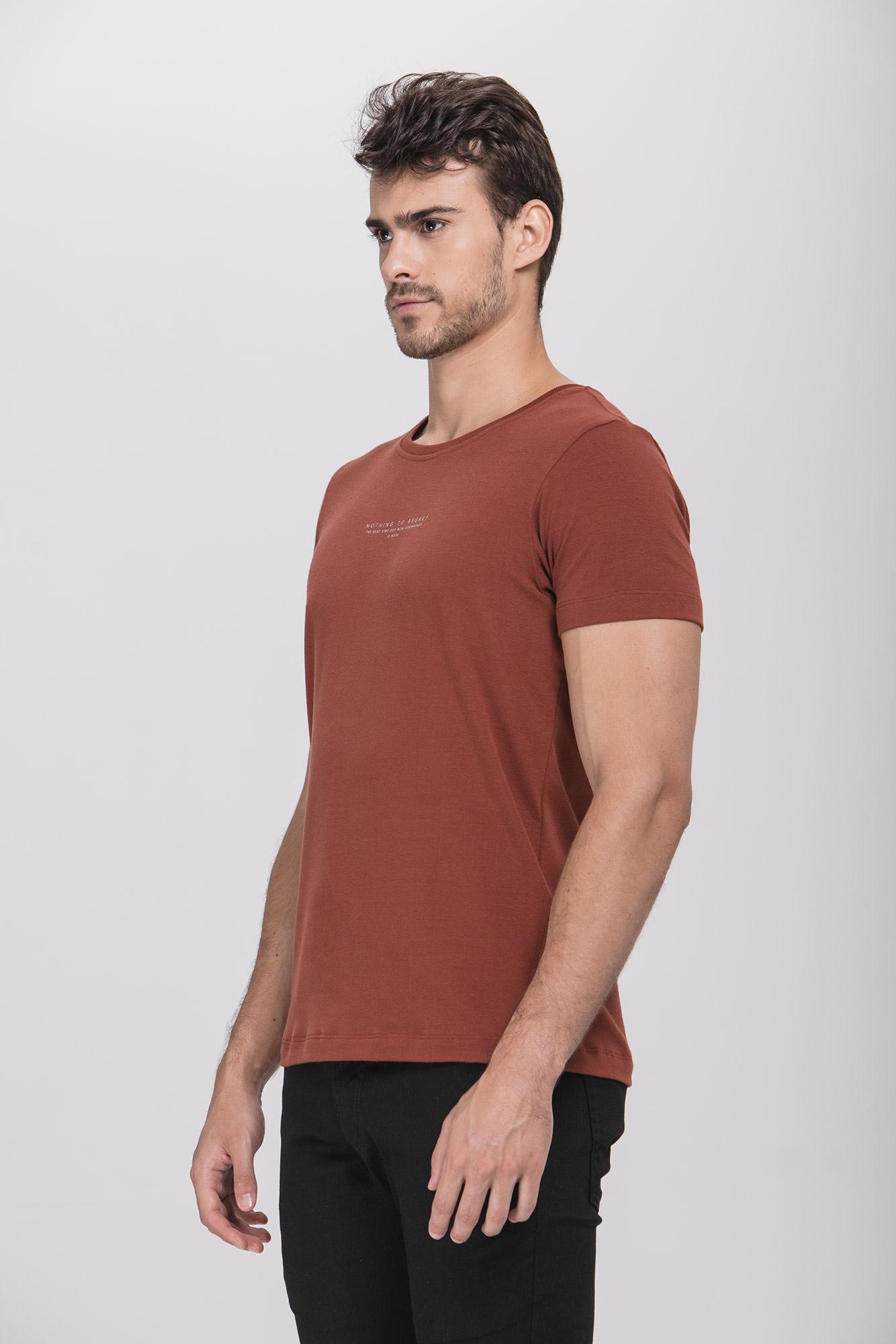 Camiseta Nothing To Regret Bordô