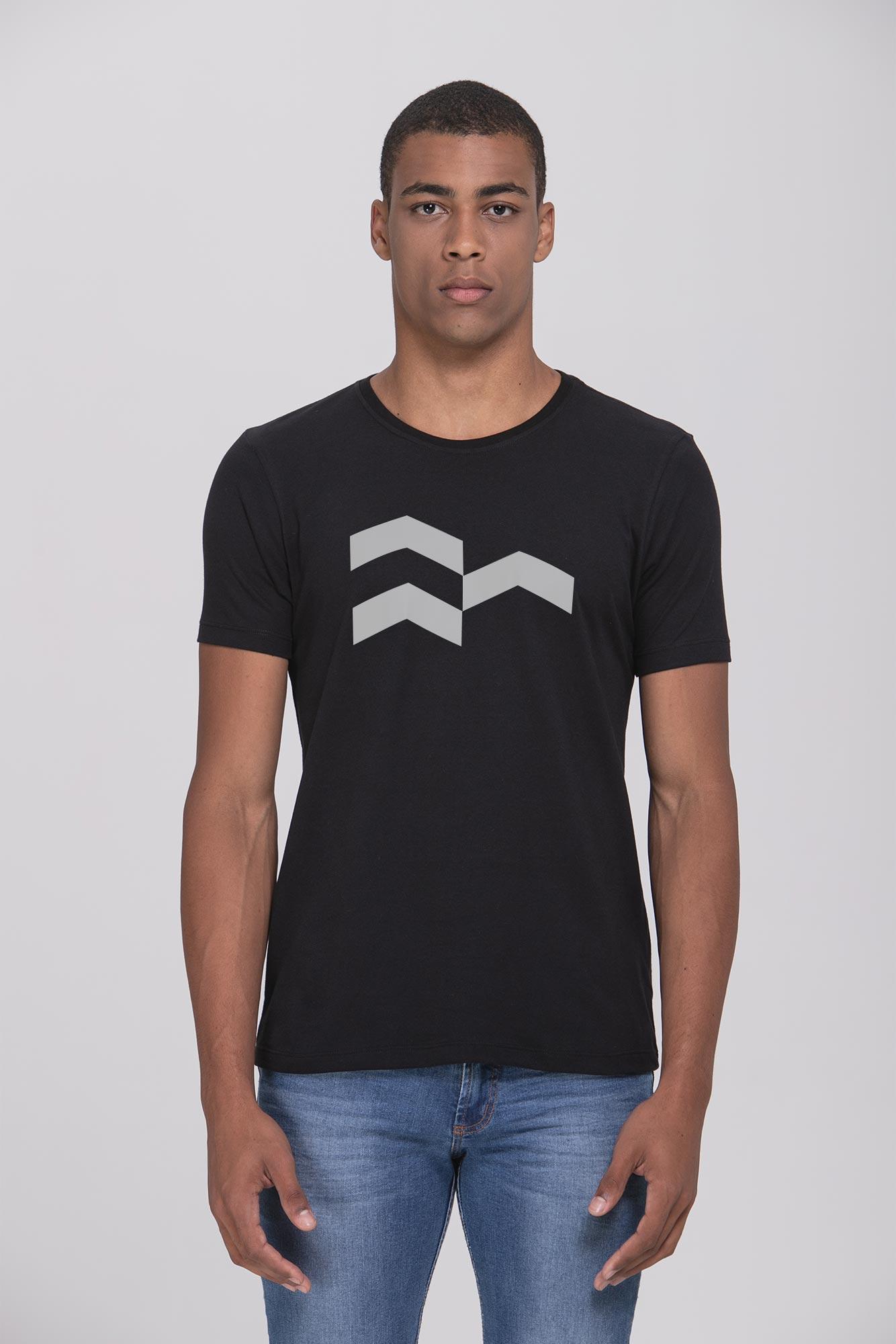 Camiseta Símbolo Gráfico Black