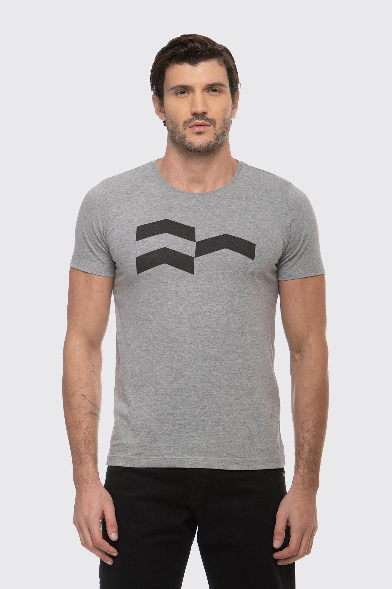 Camiseta Símbolo Gráfico Mescla