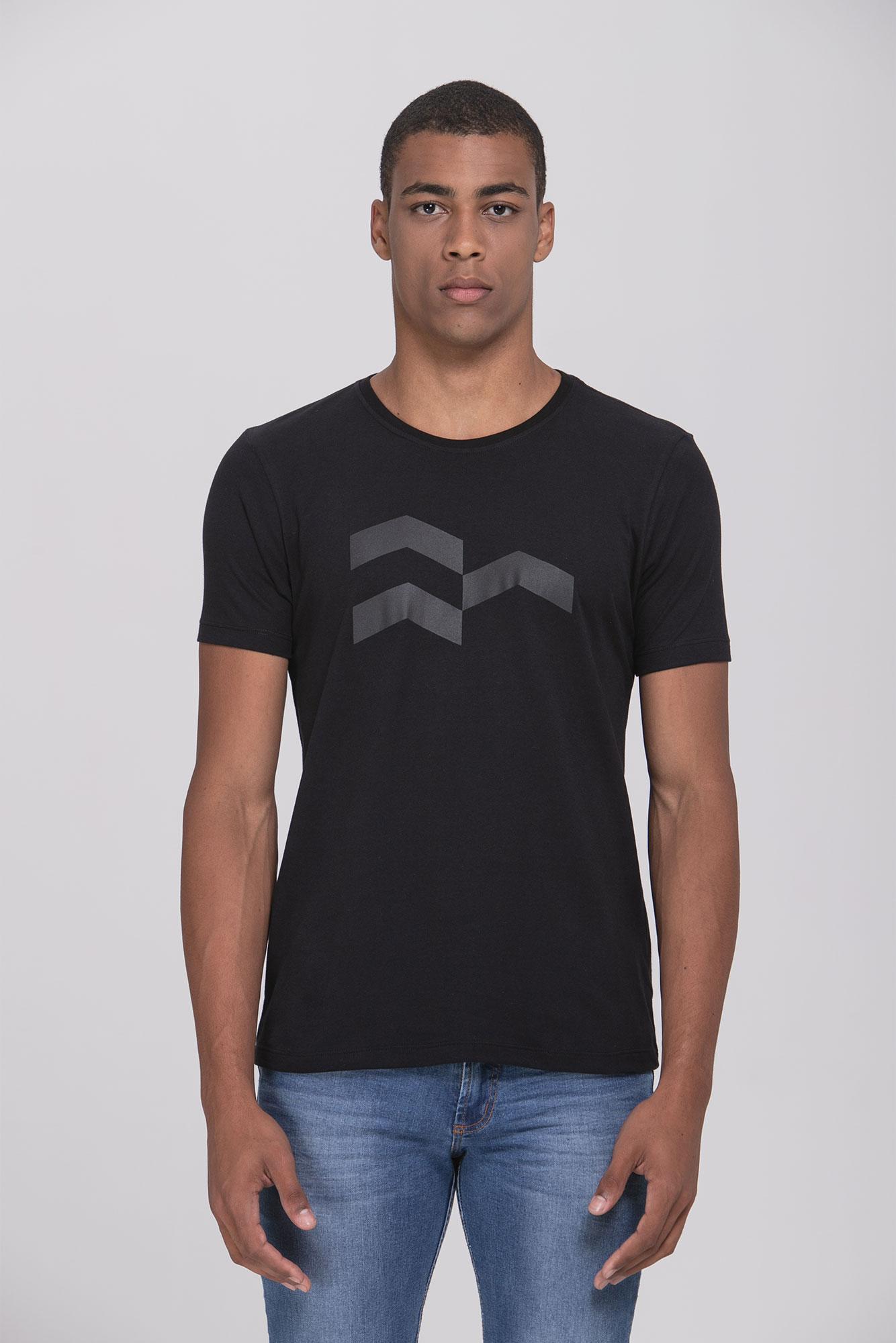 Camiseta Símbolo Gráfico Black Black