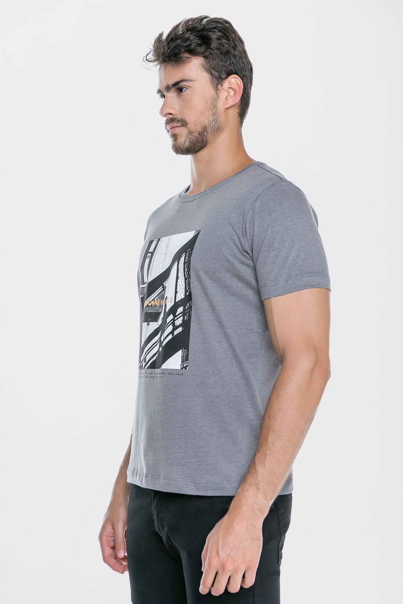 Camiseta Somewhere Cinza