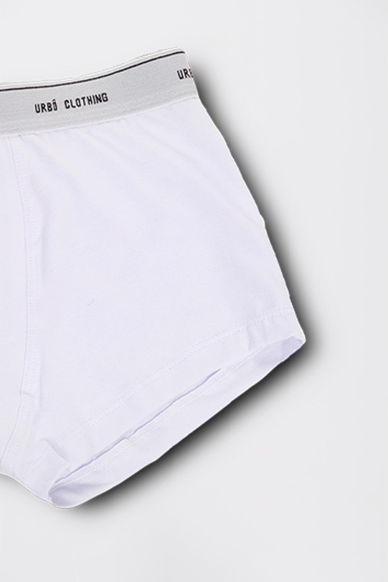 Cueca Branca/Cinza