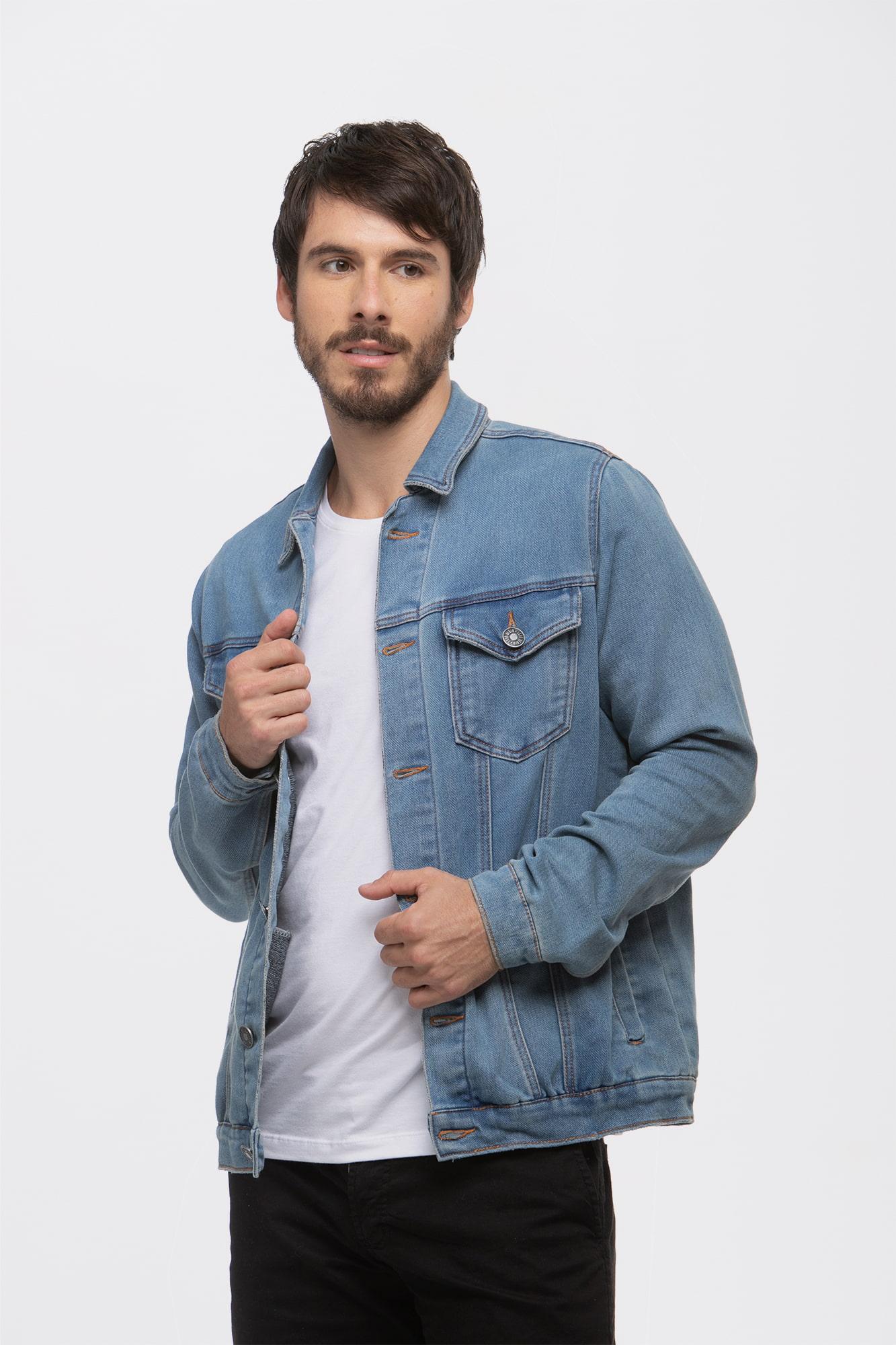 Jaqueta Jeans Moletom