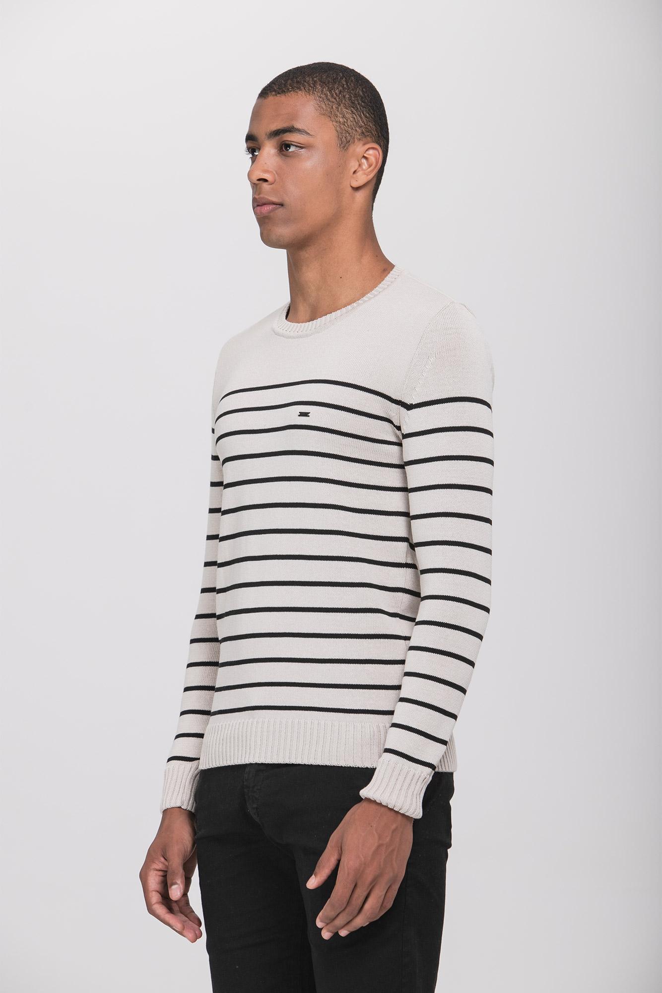 Suéter Cream Black Lines