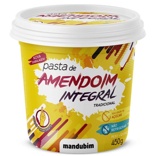 Pasta de Amendoim Integral Tradicional pote 450g - Mandubim