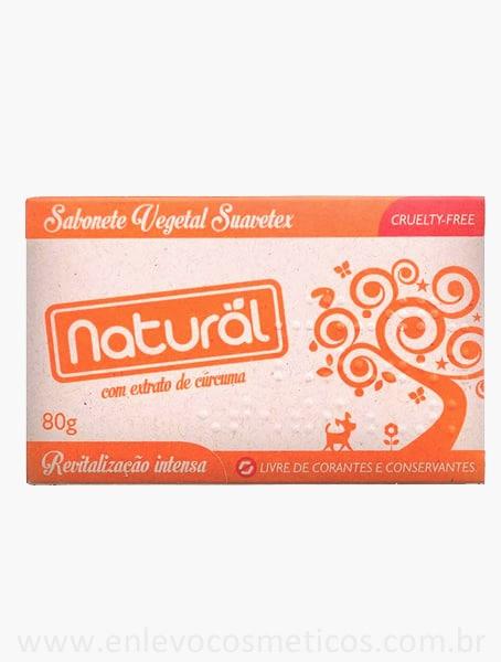 Sabonete Vegetal Natural com Extrato de Cúrcuma 80g – Orgânico Natural