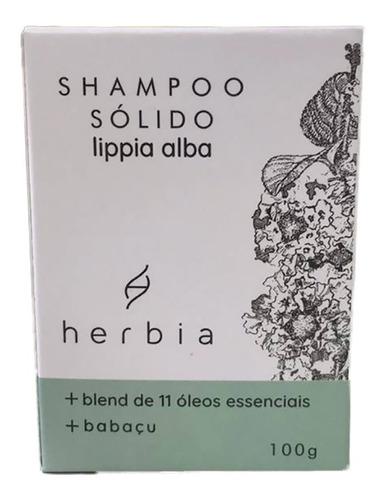 Shampoo em Barra Sólido Fortalecedor Lippia Vegano  100g - Herbia