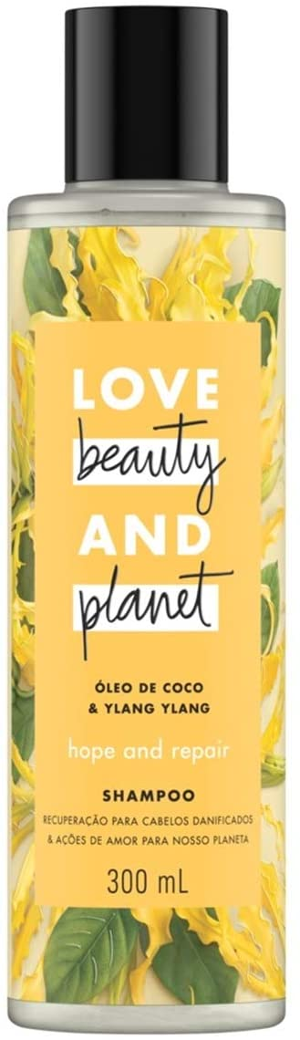 Shampoo Óleo de coco & Ylang Ylang 300ml - Love Beauty and Planet