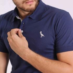 Camisa Polo Básica Marinho