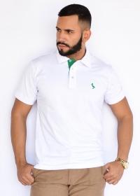 Camisa Polo Básica  Branco
