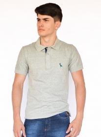 Camisa Polo Básica Mescla Médio