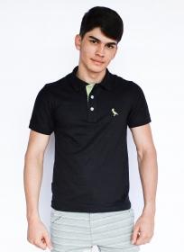 Camisa Polo Básica Preto