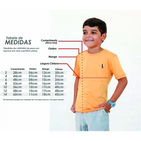 Camiseta Infanto-Juvenil amarelo