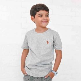 Camiseta Infanto-Juvenil Cinza