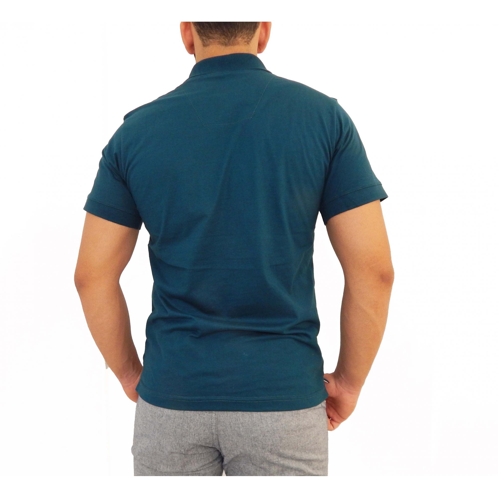 Camisa Polo Básica  Petróleo  - Kactoos