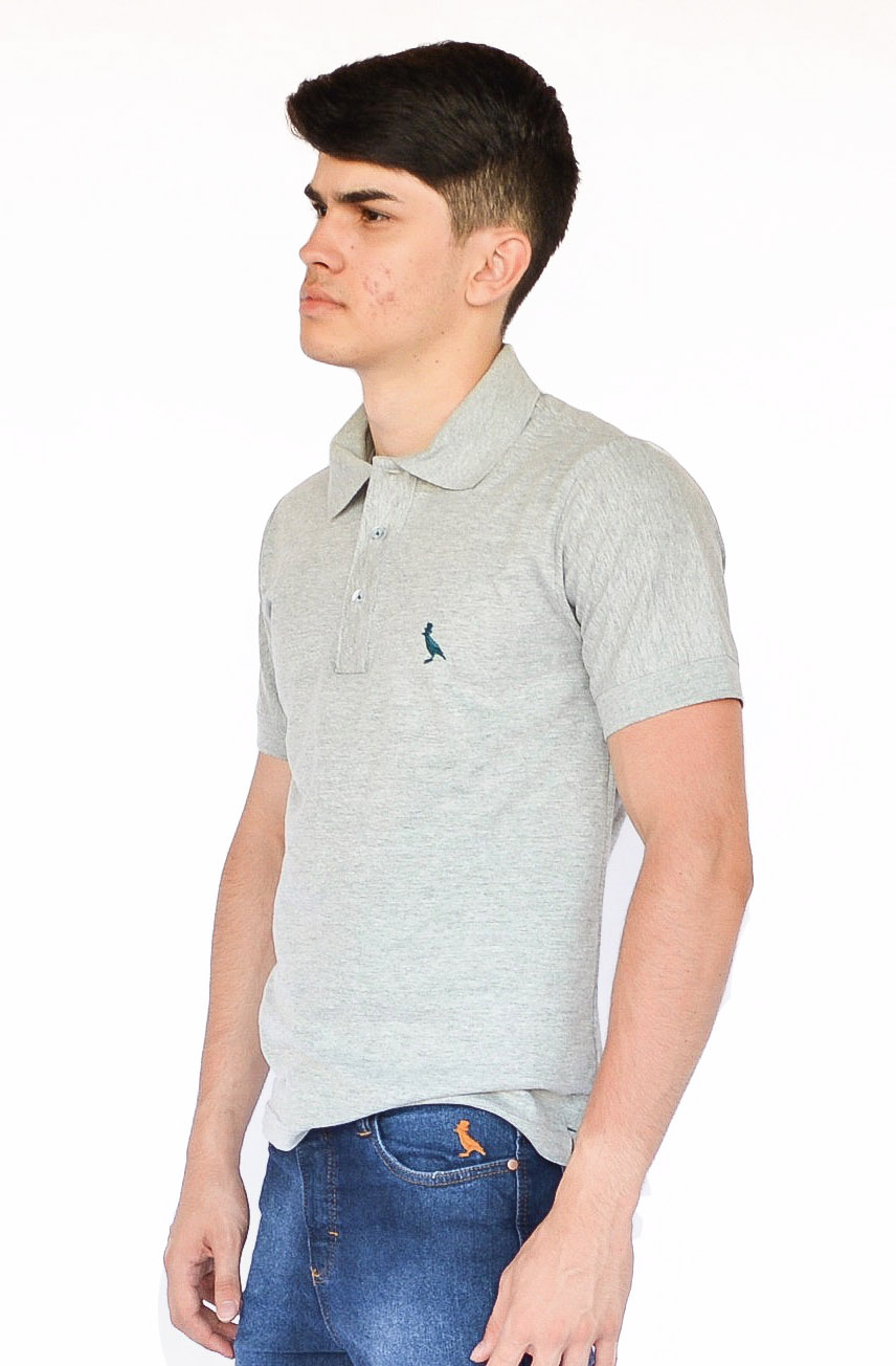 Camisa Polo Básica Mescla Médio  - Kactoos