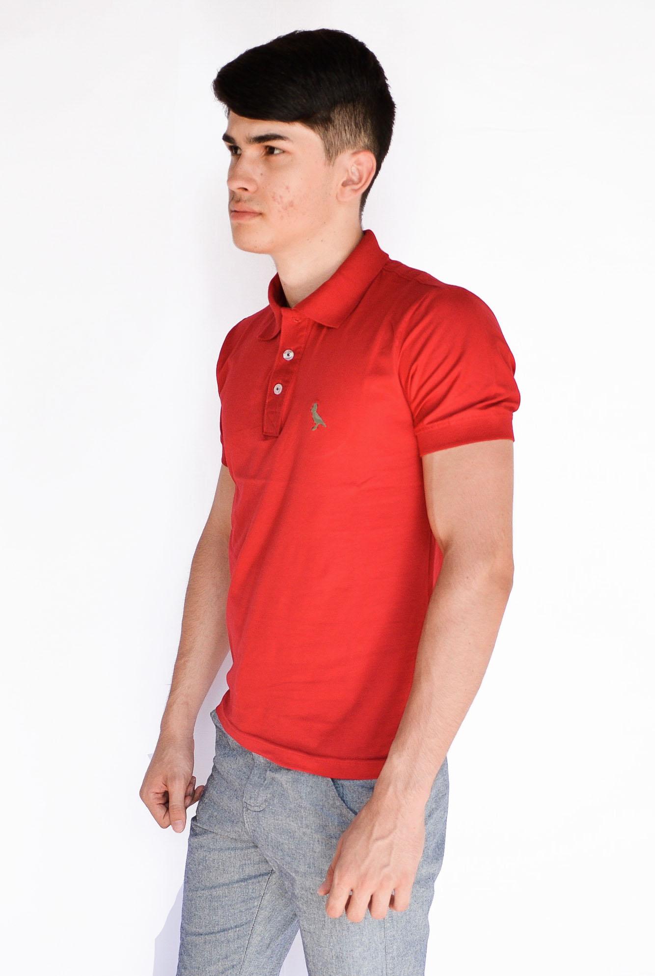 Camisa Polo Básica  Vermelho  - Kactoos