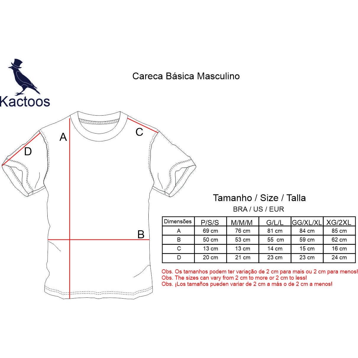 Camiseta Básica  Azul Claro  - Kactoos