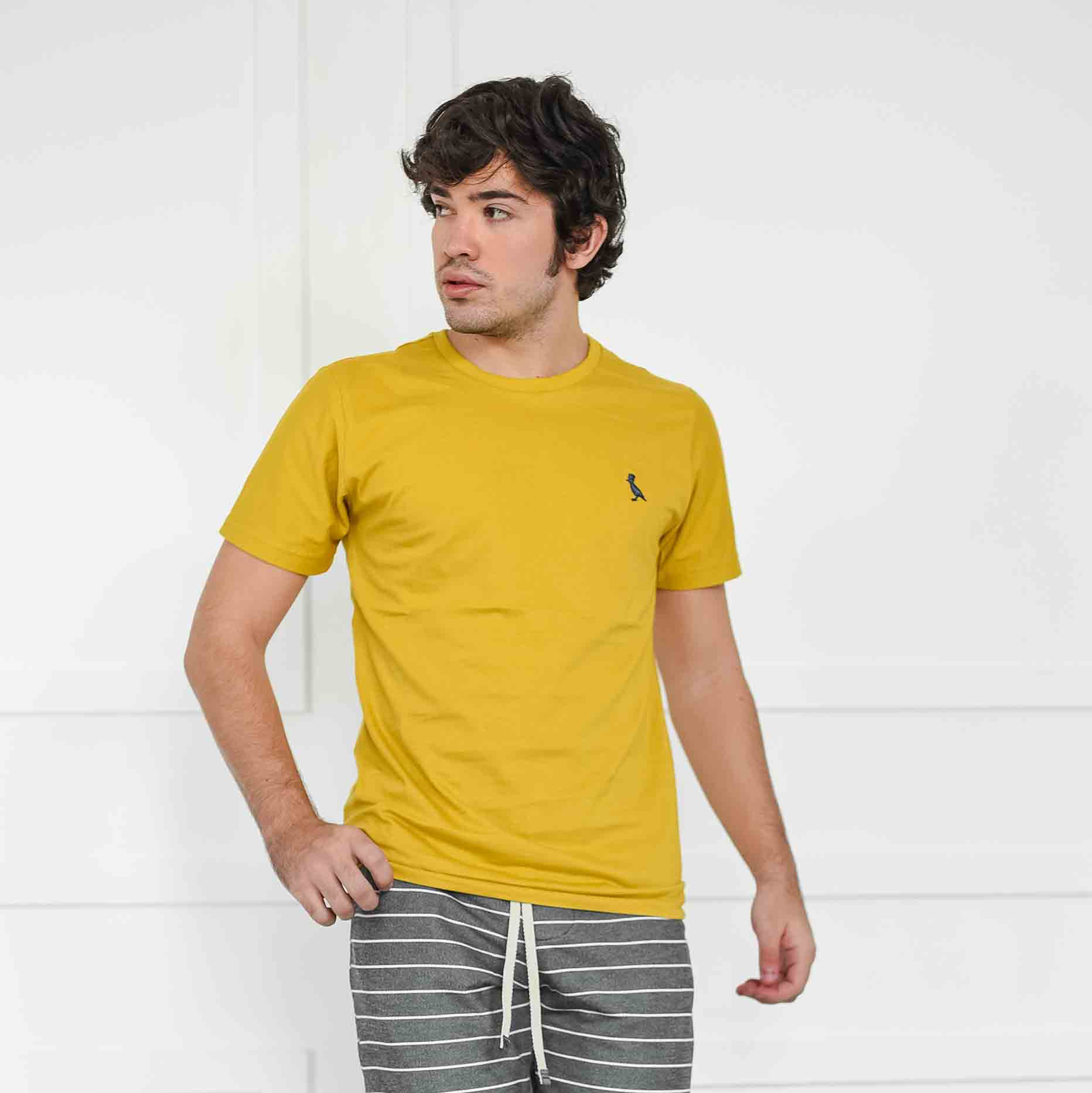 Camiseta Básica Mostarda  - Kactoos