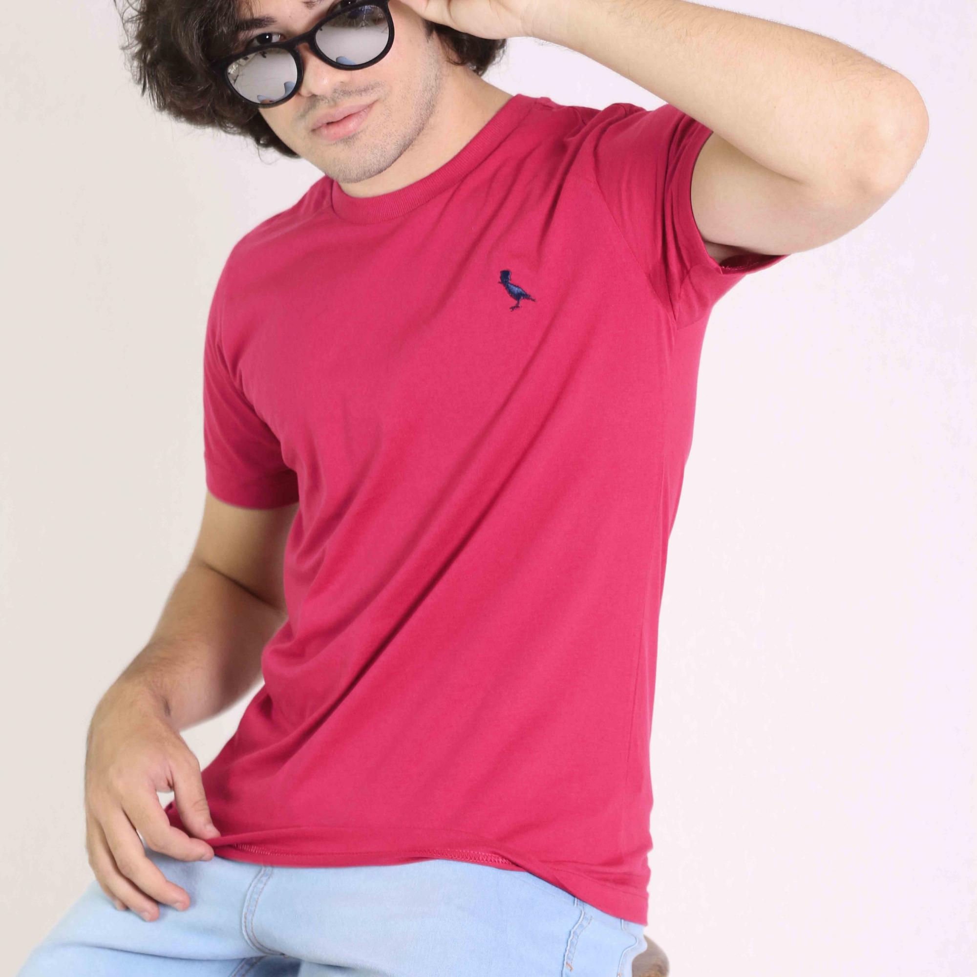 Camiseta Básica Rosa Pink  - Kactoos