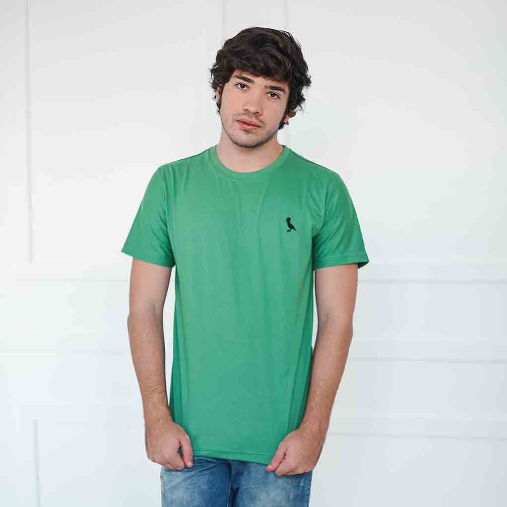 Camiseta Básica verde bandeira  - Kactoos